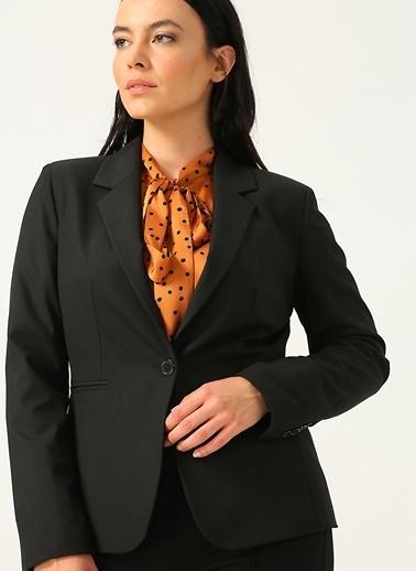 Ekol Ekol 24861093 Uzun Kollu Düğmeli Şal Yaka Kadın Ceket Siyah